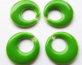 Metal & Epoxy Go-Go Drops - Silver Plated Lime (4 drops) - spa492