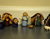 Zombie Nativity Set, Six Clay Figurines for the Holidays