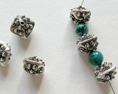 Dramatic Bali Sterling Silver Bead