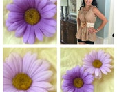 Wedding Sunflower Sash Belt Summer Lavender with Velvet Rose Girls Juniors Women Wedding Bridal