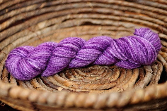 YarnLove MiniSkein in Frosted Mulberry Purple 1 oz 70 yards