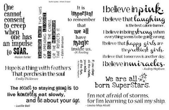 Fabulous Strong Women Quotes Rubber Stamp Collection Quote