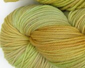 March Hare hand dyed worsted weight yarn, 4ply superwash merino, 100g 220yds - Horned Melon 3