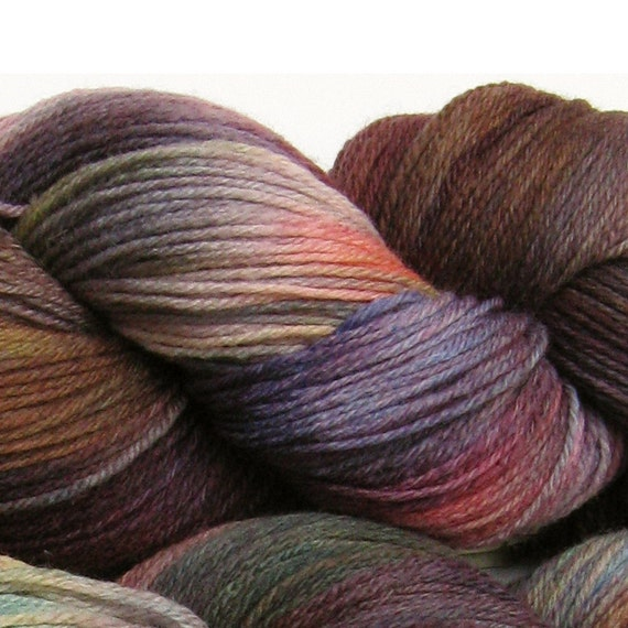 Jackalope hand dyed sock yarn fingering weight, 3ply superwash with nylon, 100g - Toad Lily 1