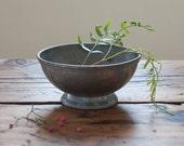 vintage pewter bowl