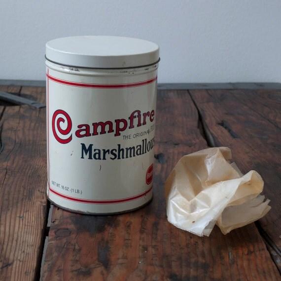 vintage campfire marshmallow tin