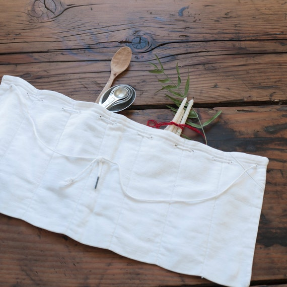 RESERVED..... vintage cotton flatware pouch