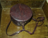 Leather Hat Box Round Purse