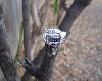 CZ and Tourmaline Ring/197