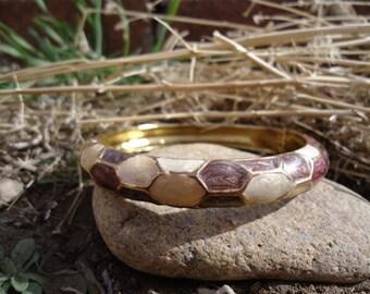 Pearlized Enamel Bracelet / 341