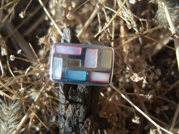 Dyed Mother of Pearl Ring
