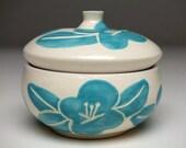 Light Blue Plum Flower Jar