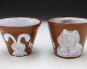 Bunny and Bear Ceramic Cup Set (small)