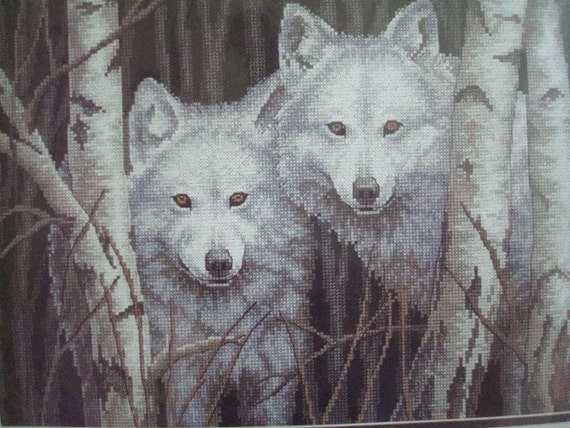 New Dimensions White Magic Wolf Counted Cross Stitch Kit