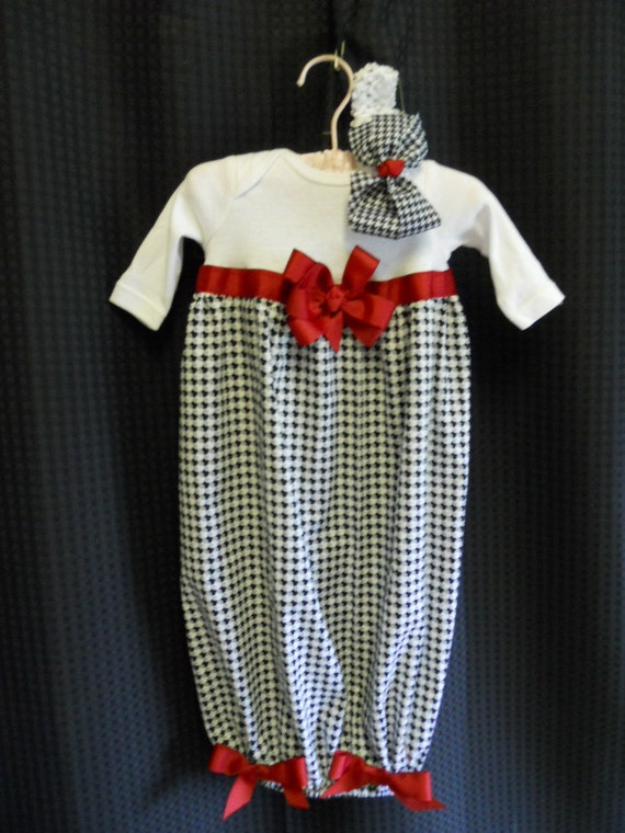 Boutique Alabama Roll Tide Infant Girls Layette set Perfect for that true Alabama Fan