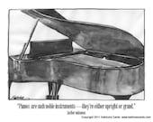 Grand Piano Note Card Gift Set