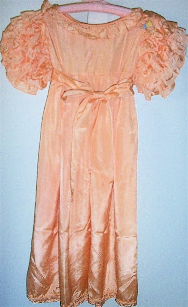 Vintage 1940s Little Girl S Peach Party Dress By