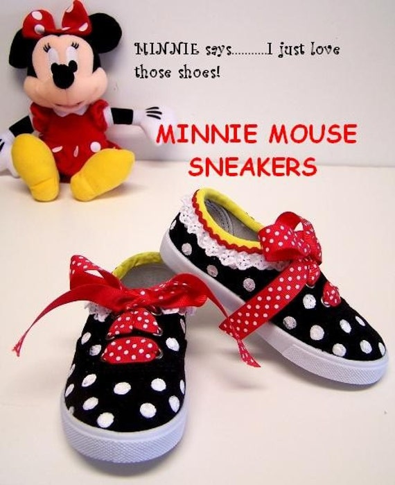 Toddler Size  Minnie Mouse Shoes