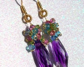 The Dark Crystal - featuring Amethyst, Tsavorite Garnet, Rubelite and Aqua Quartz, Vermeil, 14K Gold
