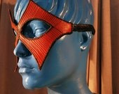 Red Diamond Quilted Leather Mask ON SALE 45% off