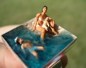 Customized - Family at the beach ring -  MADE TO ORDER