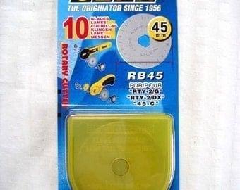 Olfa 45mm Rotary Blade //10-piece pack// (RB45-10)