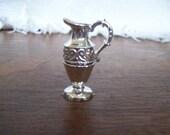 Vintage miniture Silver color metal pitcher