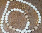 Napier Vintage Sand and Tan String of beads, Necklace .