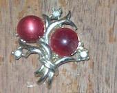 Antique Garnet Boquet Brooch,
