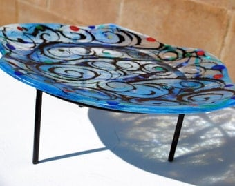Large Fused Glass Serving Plate