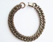 30% Off Vintage copper Bracelet 49 gr flat links chain