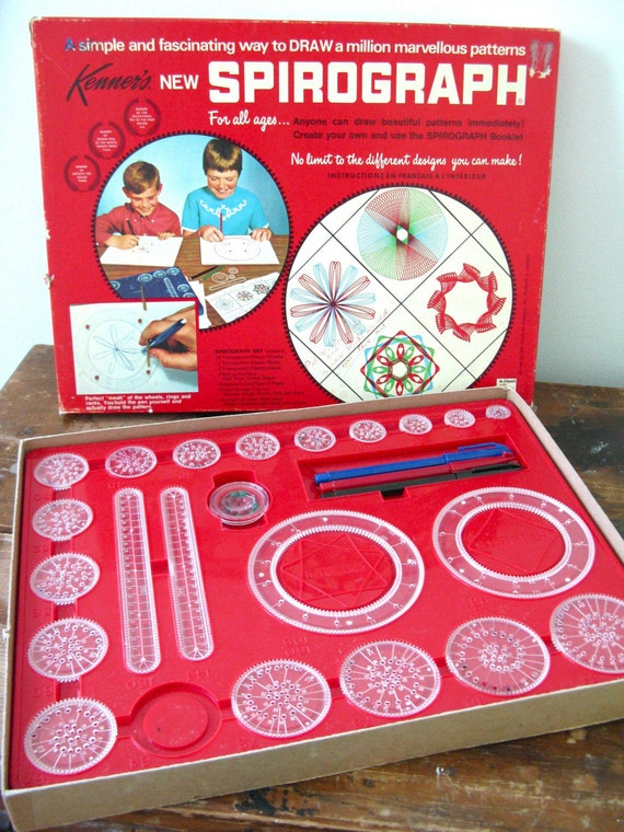 Vintage Spirograph game 1968 No. 401 Canadian edition