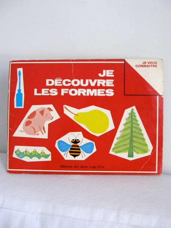 RESERVED - Vintage Children's French book 70's - Je découvre les formes