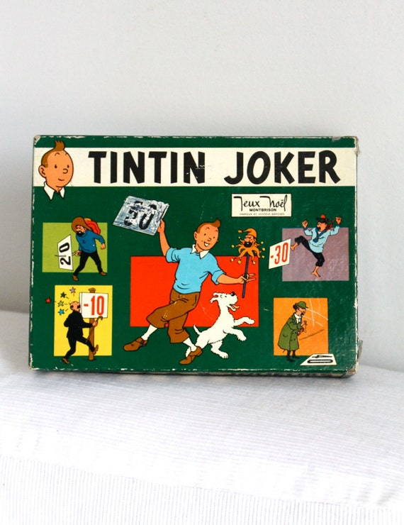 60s - Rare French Tintin Joker Game (complete)