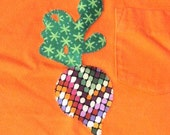 Brightly Modern Radish or Beet toddler t-shirt (upcycled, size 2T)