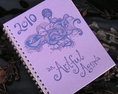 2010 daily planner by An Artful Agenda (lavender Spiderling Cloud cover) hand-drawn images for each day of the year