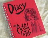 crimson red diary by An Artful Agenda- unique, hand-drawn images and lettering for each day of the year