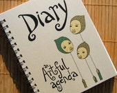 CLEARANCE Diary by An Artful Agenda- unique, hand-drawn images and lettering for each day of the year