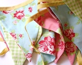 Cotton Fabric Bunting 'Summer Rose'