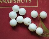 10 x 15mm Paper Cotton Ball Beads