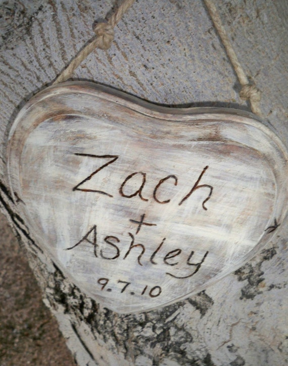 Personalized Rustic wedding shabby chic antiqued heart shape wood love carving wall decoration for wedding, home, reception, gift
