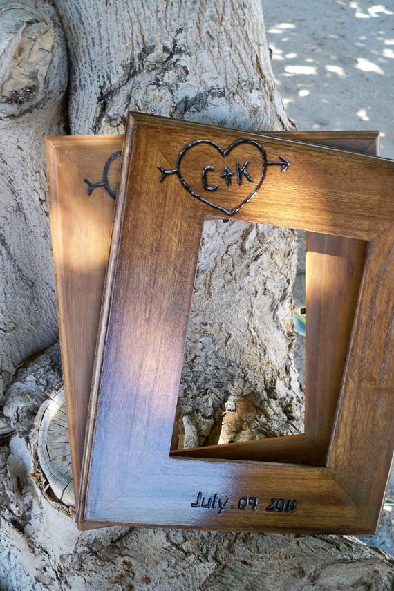 Wedding Gifts For Outdoorsy Couples : Wedding gift for parents, couples 2 Personalized 5x7 Rustic chic ...
