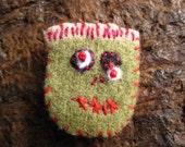 little lost zombie - felt brooch