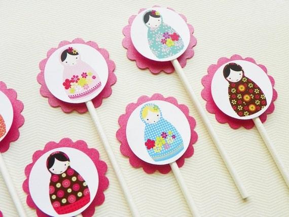 Matryoshka Cupcake Toppers