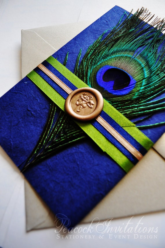 Items similar to 100 custom designed sophie paris rustic for Peacock wedding invitations with photo