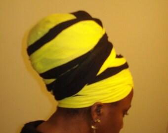 Corn Bird  Cotton Headwrap- Headress- Cotton Turban- Hair Covering