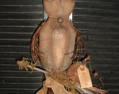 PriMitiVe GruNgy Rustic FaLL HarVest Owl Make-Do epattern Instant Download