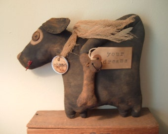 PriMitiVe Chase the Dog Doll e-pattern Instant download