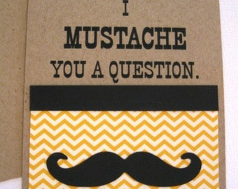 Mustache Party Invitations - Set of 8