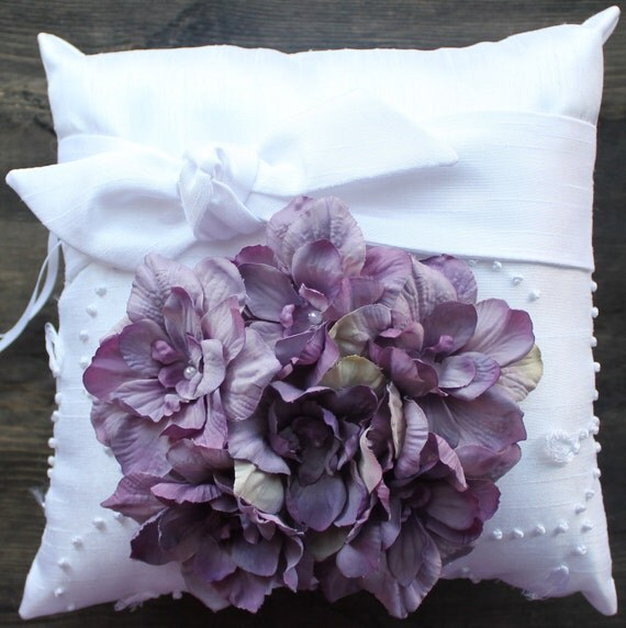 Ring Bearer Pillow with Floral Detail ... Available in Multiple Colors